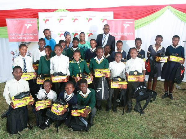 Transnet School Shoes give away at the Ngwabi Primary School